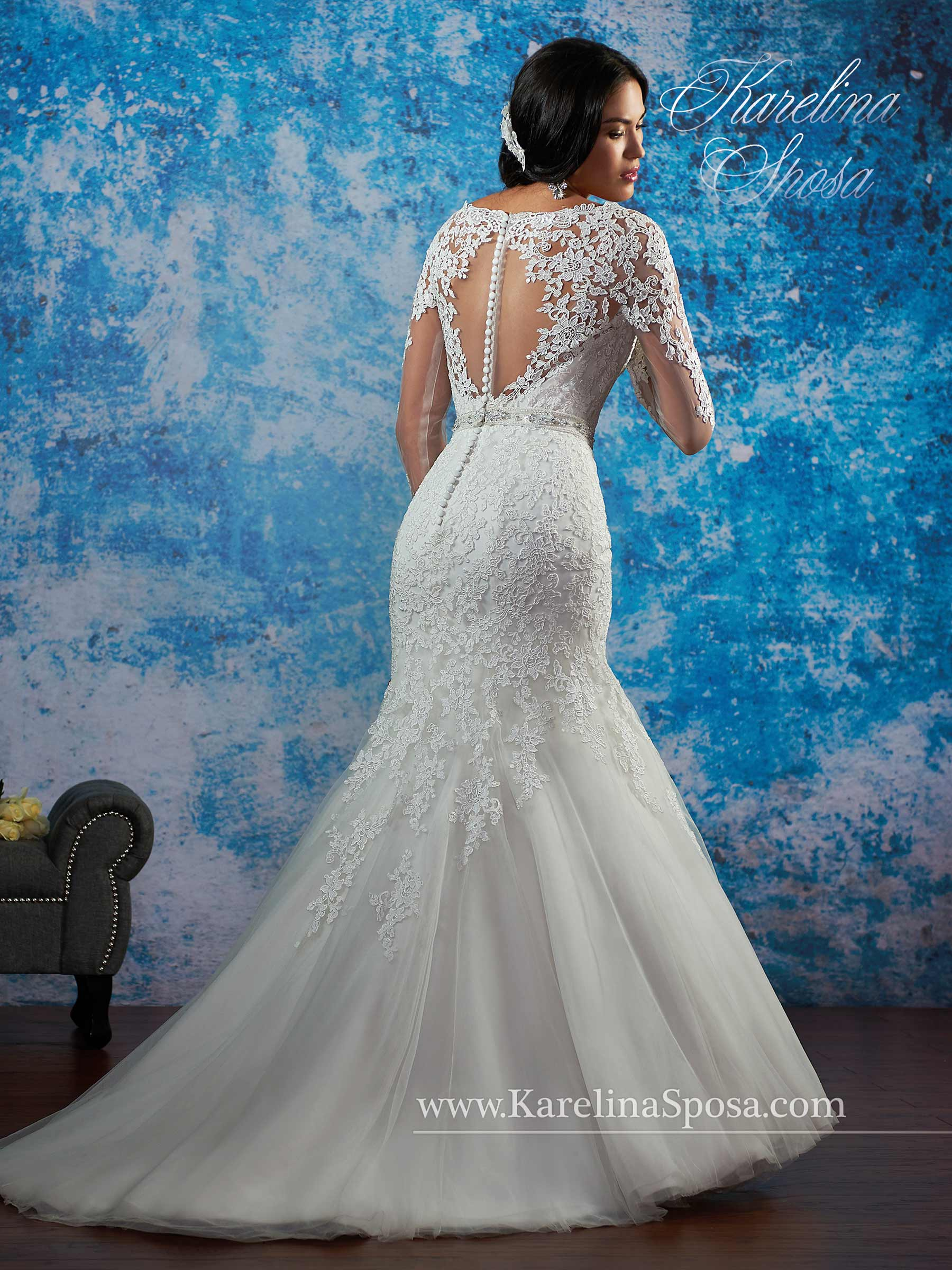 Vestido de novia Karelina Sposa C8080 - Lanovea