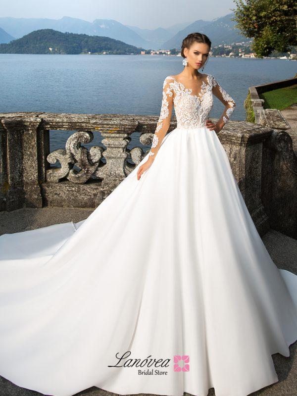 traje de novia mangas