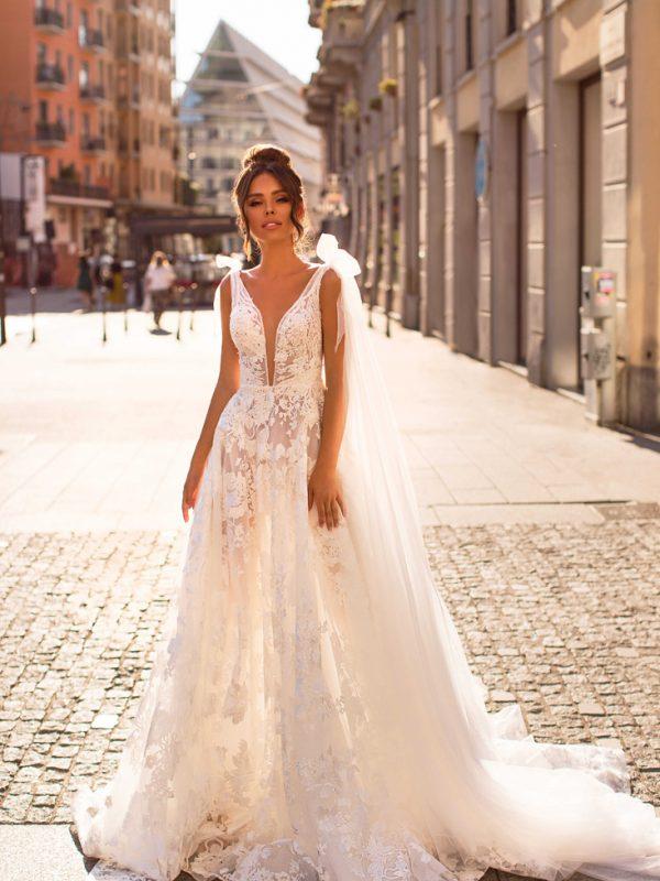 traje de novias romántico