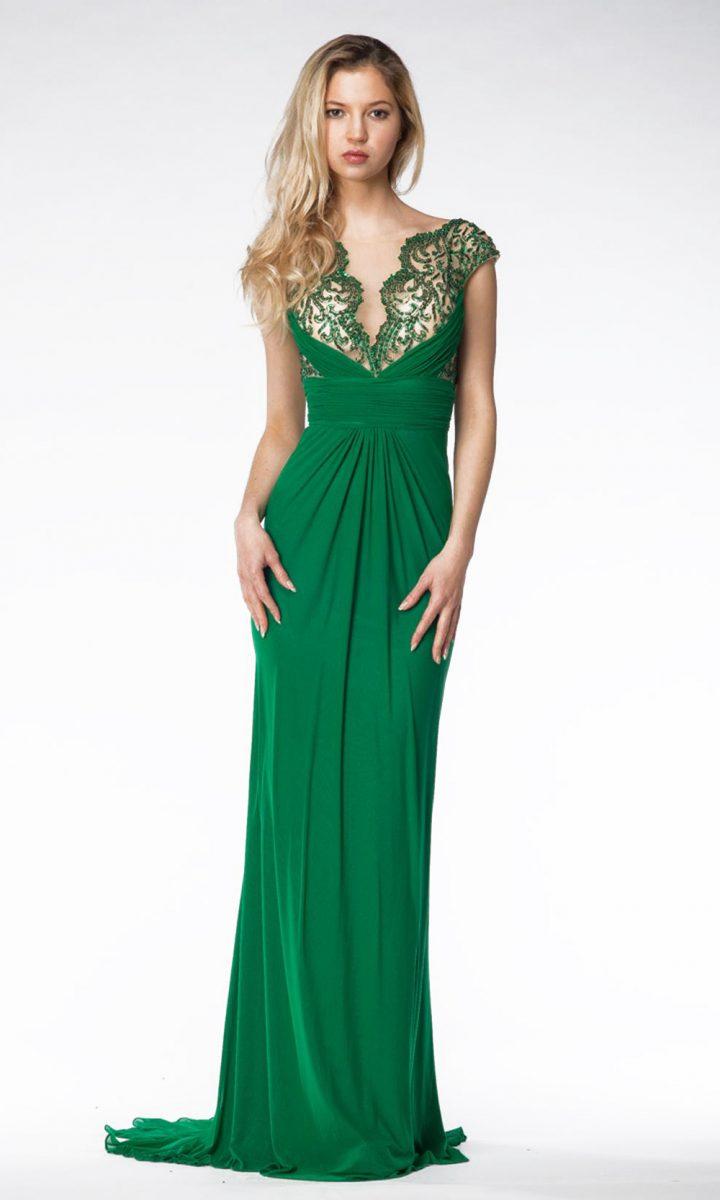 Vestido de madrina verde