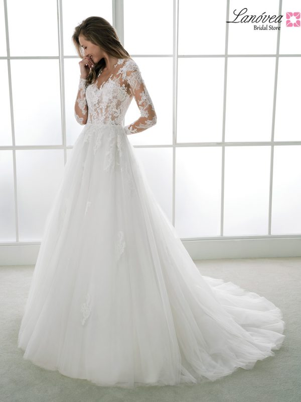 vestido de novia mangas largas