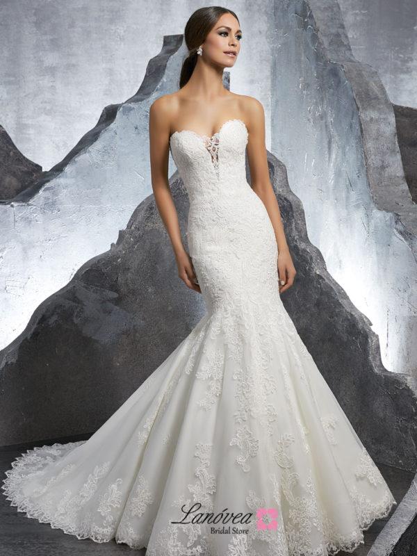 romantico vestido de novia