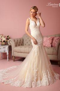 elegante vestido de novia
