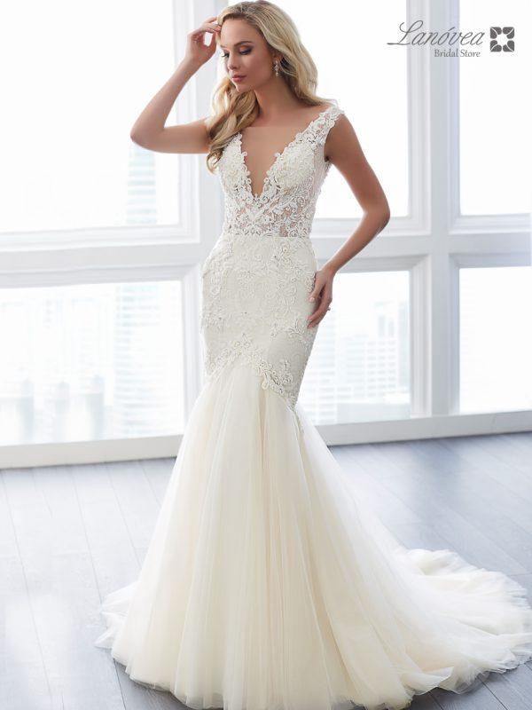 sensual wedding gown