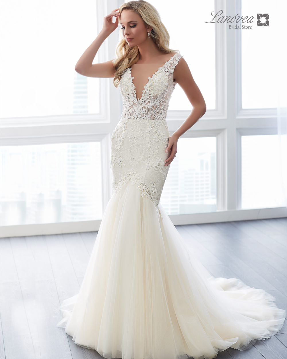 sensual wedding gown