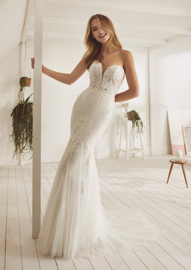 traje de novia de encajes