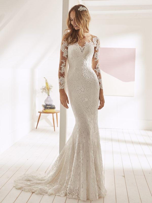 vestido de novia de encajes