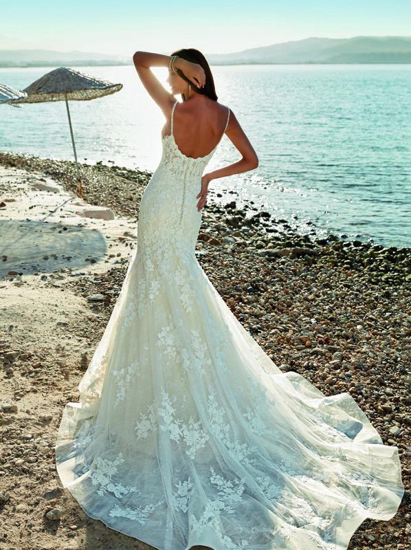 sensual vestido de novia