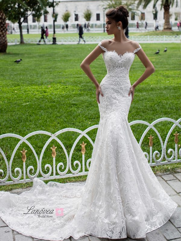 Wedding dress in mermaid Halime Pollardi