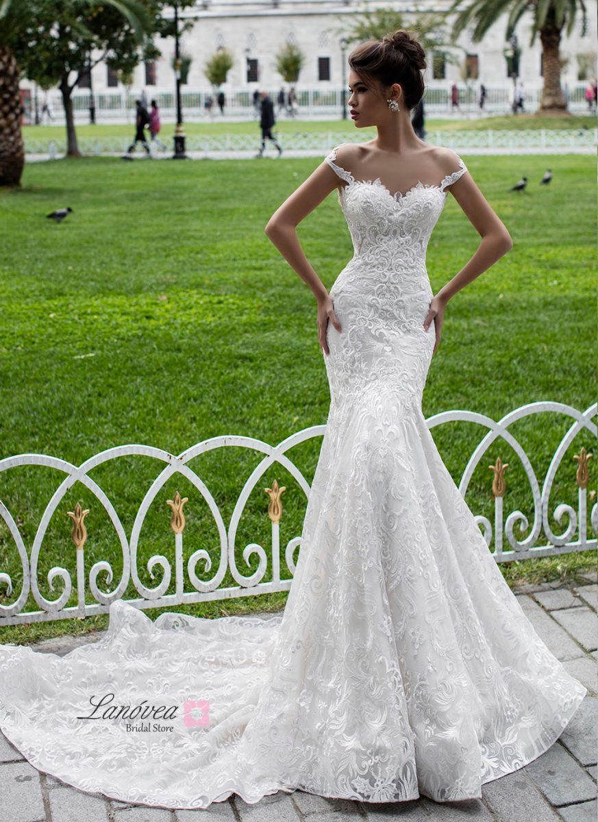 Wedding dress in mermaid Halime Pollardi