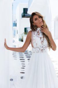 vestido de novias cuello halter
