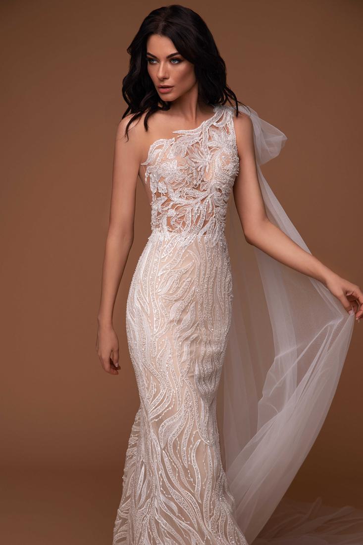 Sofisticado vestido de novias
