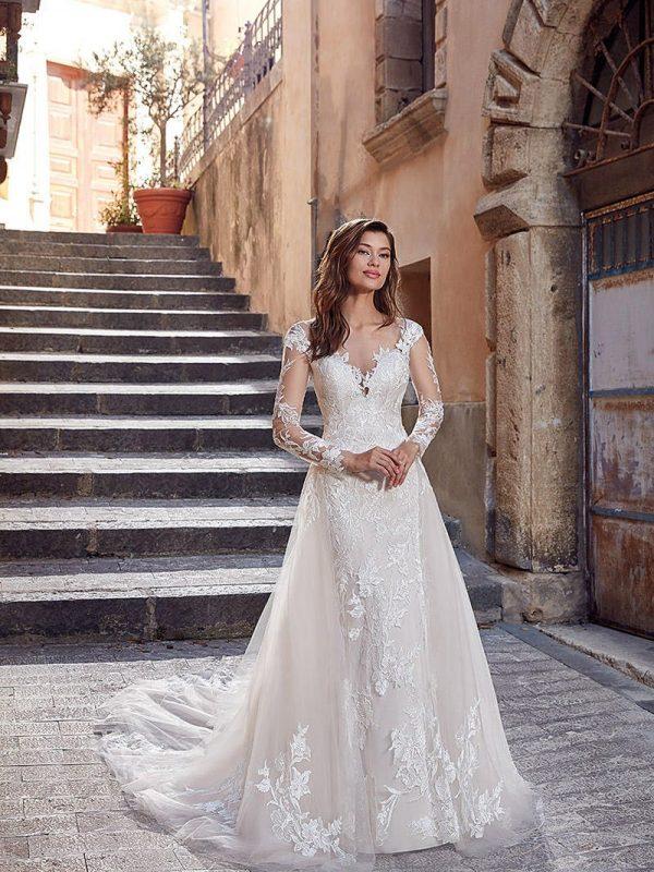 vestido de novias mangas largas