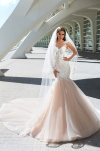 vestido de novias en encajes